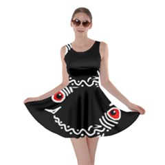 Abstract fishes Skater Dress