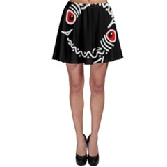 Abstract fishes Skater Skirt