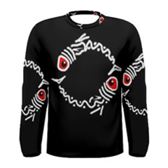 Abstract fishes Men s Long Sleeve Tee