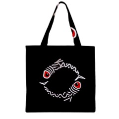 Abstract fishes Zipper Grocery Tote Bag