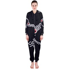 Abstract fishes Hooded Jumpsuit (Ladies)