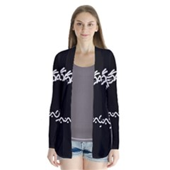 Abstract Fishes Drape Collar Cardigan
