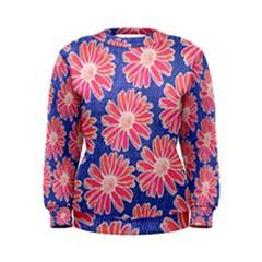 Pink Daisy Pattern Women s Sweatshirt