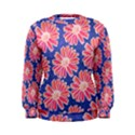 Pink Daisy Pattern Women s Sweatshirt View1