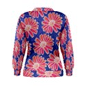 Pink Daisy Pattern Women s Sweatshirt View2