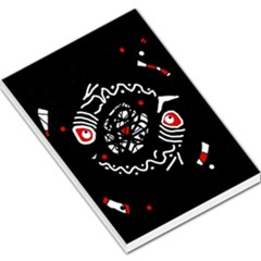 Abstract fishes Large Memo Pads