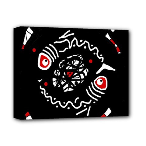 Abstract fishes Deluxe Canvas 14  x 11