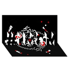 Abstract fishes #1 MOM 3D Greeting Cards (8x4)