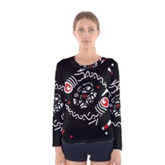 Abstract fishes Women s Long Sleeve Tee