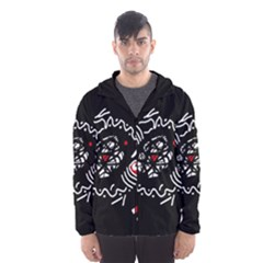 Abstract fishes Hooded Wind Breaker (Men)