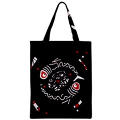 Abstract fishes Zipper Classic Tote Bag