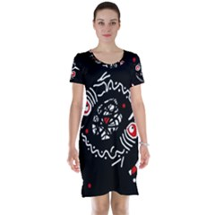 Abstract fishes Short Sleeve Nightdress