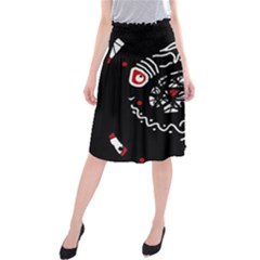 Abstract fishes Midi Beach Skirt