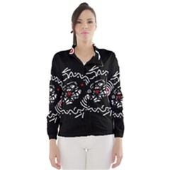 Abstract fishes Wind Breaker (Women)