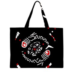 Abstract fishes Zipper Large Tote Bag