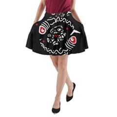 Abstract fishes A-Line Pocket Skirt