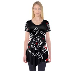 Abstract Fishes Short Sleeve Tunic