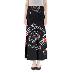 Abstract fishes Maxi Skirts