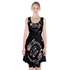 Abstract fishes Racerback Midi Dress