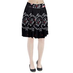 Abstract Fishes Pleated Skirt