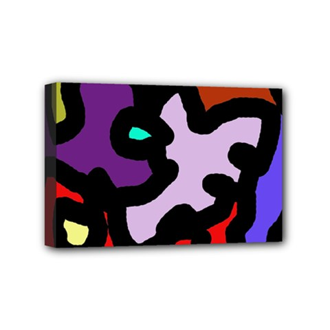 Colorful abstraction by Moma Mini Canvas 6  x 4
