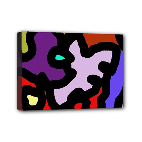 Colorful abstraction by Moma Mini Canvas 7  x 5