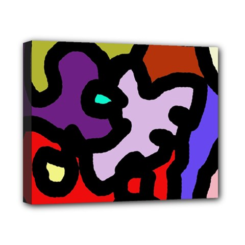 Colorful abstraction by Moma Canvas 10  x 8
