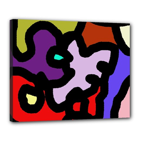 Colorful abstraction by Moma Canvas 20  x 16