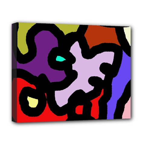 Colorful abstraction by Moma Deluxe Canvas 20  x 16
