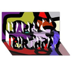 Colorful abstraction by Moma Happy Birthday 3D Greeting Card (8x4)