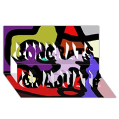 Colorful Abstraction By Moma Congrats Graduate 3d Greeting Card (8x4)