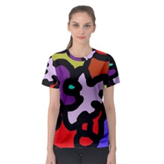 Colorful abstraction by Moma Women s Sport Mesh Tee