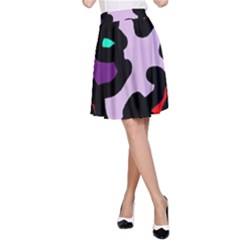 Colorful abstraction by Moma A-Line Skirt