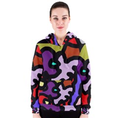 Colorful abstraction by Moma Women s Zipper Hoodie