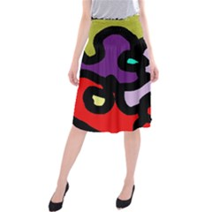 Colorful abstraction by Moma Midi Beach Skirt