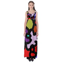 Colorful abstraction by Moma Empire Waist Maxi Dress