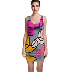 Colorful abstract design by Moma Sleeveless Bodycon Dress
