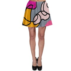 Colorful abstract design by Moma Skater Skirt