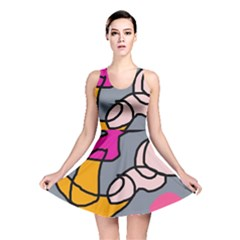 Colorful abstract design by Moma Reversible Skater Dress