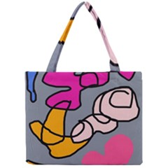 Colorful abstract design by Moma Mini Tote Bag