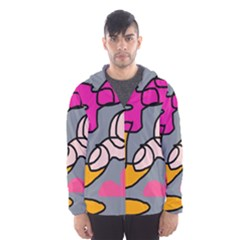 Colorful abstract design by Moma Hooded Wind Breaker (Men)