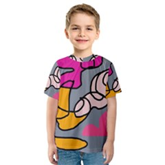 Colorful abstract design by Moma Kid s Sport Mesh Tee