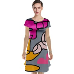 Colorful abstract design by Moma Cap Sleeve Nightdress