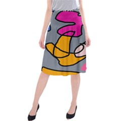 Colorful abstract design by Moma Midi Beach Skirt