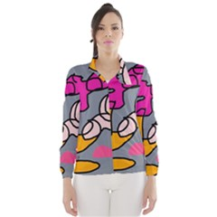 Colorful abstract design by Moma Wind Breaker (Women)