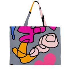 Colorful abstract design by Moma Large Tote Bag