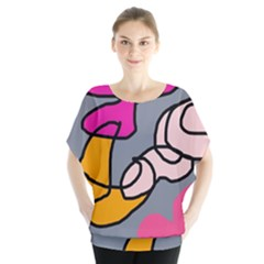 Colorful abstract design by Moma Blouse