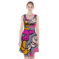 Colorful abstract design by Moma Racerback Midi Dress