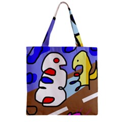 Abstract comic Zipper Grocery Tote Bag