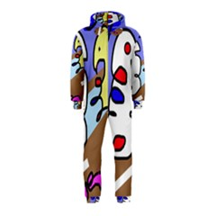 Abstract comic Hooded Jumpsuit (Kids)
